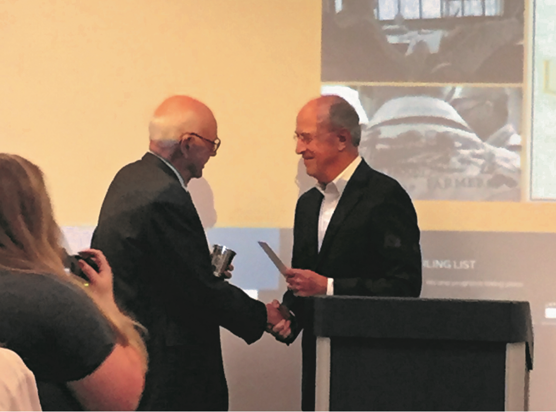 Author Wendell Berry receives the inaugural Carl West Award in 2019.